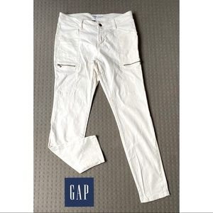 Gap Women Ivory White Mid Rise Skinny Jeans AU10